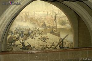 Boj Pražanů se Švédy na Karlově mostě