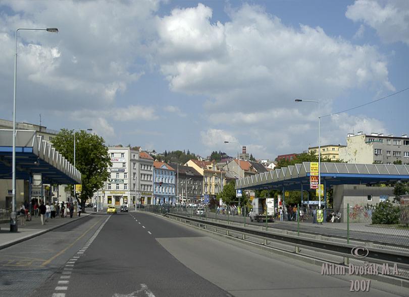 Autobusová zastávka Vysočanská