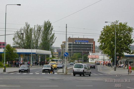Autobusová zastávka Vysočanská -