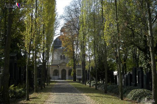Obřadní síň Nového židovského hřbitova na Olšanech -
